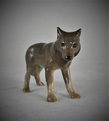 Beautiful Retired Hagen Renaker Porcelain Miniature Wolf Mom