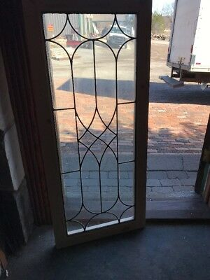 Sg 2030 Antique Leaded Transom Window 20 1/16 X 46.5