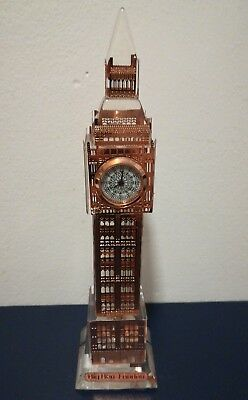 London Copper 18Cm Big Ben, Working Clock, Changing Lights- Souvenir +Free Gift