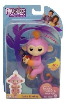 Fingerlings Two Tone Baby Monkey Summer Interactive Toy Authentic - #3725