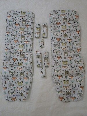 Baby jogger city mini GT double pram liners set-Indian animals-2 liner sets