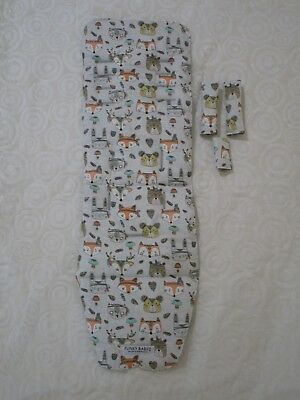 Baby jogger city mini pram liner set-Indian animals-Handmade