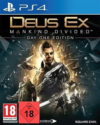 PS4 Game Deus Ex Mankind Divided Day 1 Edition USK 18 Shipping Note New