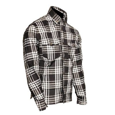 Motorcycle Cotton Shirt Reinforced with DuPont? Kevlar® ARAMID S-8XL Black and w