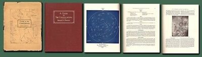 1928 GUIDE TO CONSTELLATIONS-Sky Atlas/Astronomy/Barton/HB/DJ/17 Maps/Near Fine