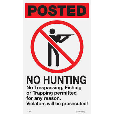 Plastic Posted and Boundary Sign No Hunting