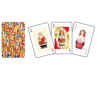 Russian PLAYING CARDS 52 Cards Deck Classic Set Made in Austria Golden Russia