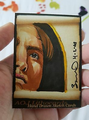 Cedric Diggory Robert Pattison Harry Potter Psc Sketch Card Jonathan D Gordon