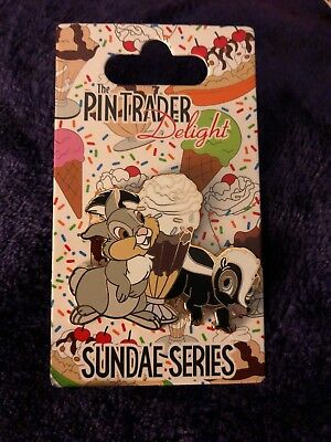 Disney Pin Trader Delight DSF Thumper And Flower PTD DSSH  LE 300