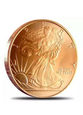 1 Walking Liberty Coin - .999 fine Copper Bullion - 1 Ounces