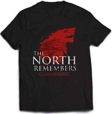 Game Of Thrones' The North Remembers' T-Shirt - Neu und Offiziell