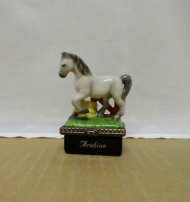 Arabian with Horseshoe PHB Midwest of Cannon Falls Trinket Box with Box