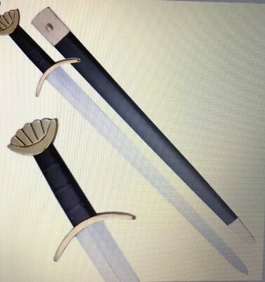 Medieval Viking Handmade Sword With Leather Scabbard