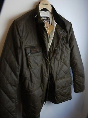Barbour International Men's Quilted International Jacket, NWT, Black, Olive