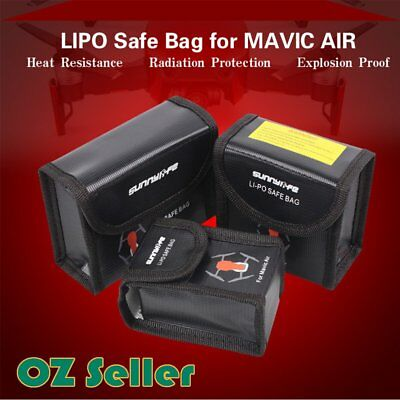 Lipo Battery Fireproof Explosionproof Safe Bag Storage Case For DJI Mavic Air