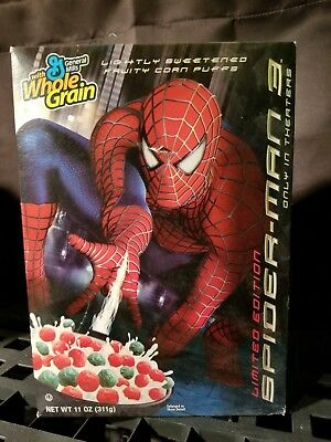 Spider-Man 3 Cereal Box Kelloggs Spiderman Limited Edtion Sealed Full Box