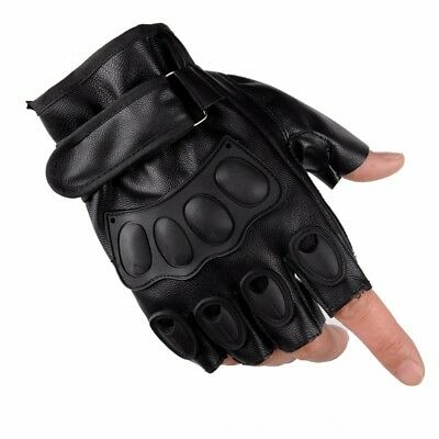AU Fingerless Half Finger Hunting Bike Cycling Rock Climbing Gloves Mittens