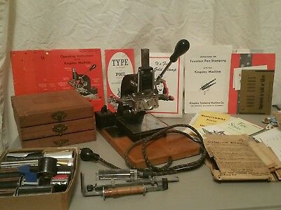 Vintage Kingsley Hot Foil Stamping Machine with Letters Accessories Memorabilia