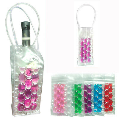 PVC Wine Bottle / Ice Bag Cooler Cool Can Cooling Holder Gel Carrier Gift Party