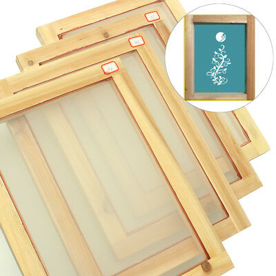 1PCS A4 Size Silk Wooden Screen Printing Mesh Count Frames Kit 32T/43T/55T/77T