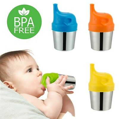 US 5PCS Kids Silicone Sippy Lids For Kids Sippy Cup Spill Proof Safety Reuseable