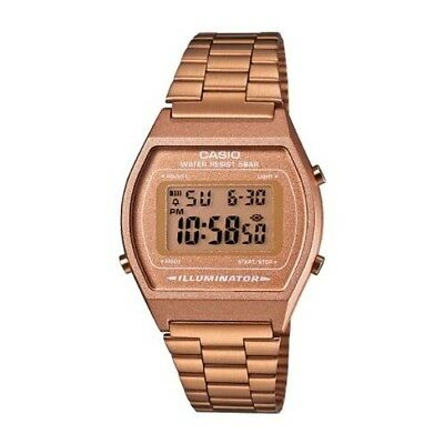 Casio B640WC-5A Digital Retro Design Stainless Steel Casual Watch