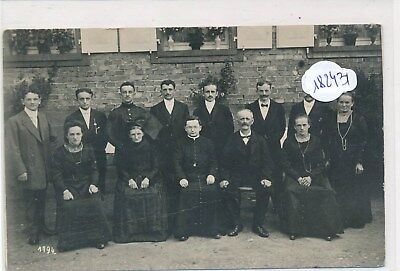 CPA-67-Haguenau -Carte photo groupe à identifier- RARE