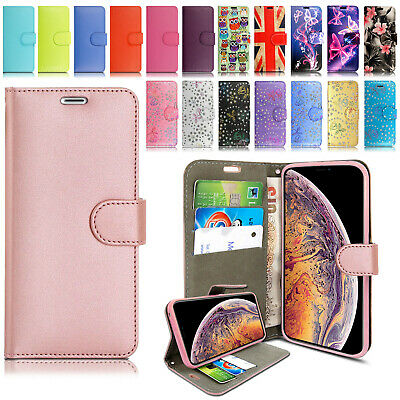 Case for iPhone Phone Cover Real Genuine Leather Flip Wallet