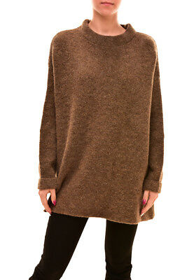 Free People New Relaxed Winding Ivy Sweater Honey Mustard RRP £108 BCF81