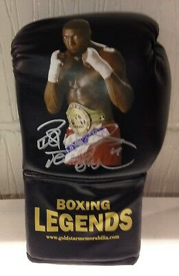 Frank Bruno hand signed boxing glove world champion RARE COA