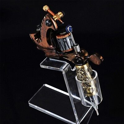 Professional Tattoo Machine Holder Stand Clear Acrylic Tattoo Gun Organizer Tool
