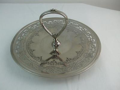 """Round Handled Pierced 10.5"""" Plate 3474 Silverplate Royal Rochester Appetizers"""