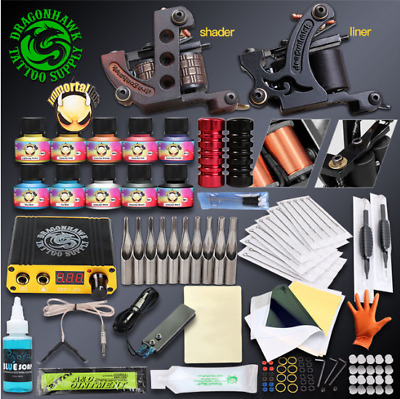 # Professional Complete Tattoo Kit Set 2 Guns Immortal Color Inks Tattoo Machine