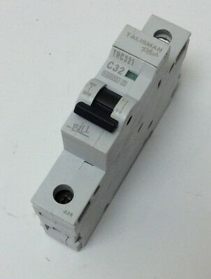 MEM EATON 32a MCB MEMSHIELD 2 SINGLE POLE C TYPE 10KA 3 PHASE MCH132 OR THC321