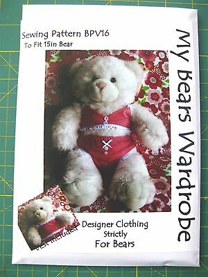 SEWING PATTERN Teddy Bear Clothes fits build a bear by My Bears ...