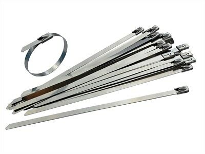 Faithfull - Stainless Steel Cable Ties 4.6 x 290mm (Pack of 50