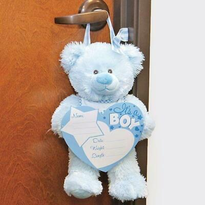 Baby Boy Birth Announcements : Hanging IT'S A BOY Hospital Door Teddy Bear