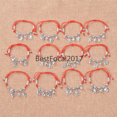 12 Chinese Zodiac Lucky Bracelet Traditional Feng Shui Red String Jewellery New
