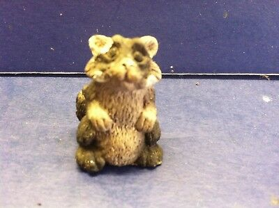 Tiny Raccoon Resin Miniature