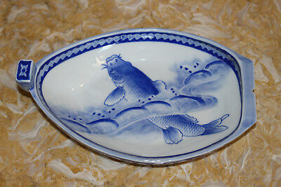 Blue and White Porcelain fish bowl  -  ASIAN  -  CHINESE  -  JAPANESE PORCELAIN
