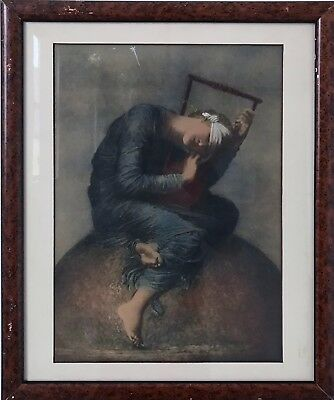 Vintage Framed Reproduction of Figurative Charcoal Drawing, $75