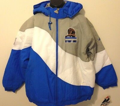 Vintage 90s Detroit LIONS Apex One JACKET *SWIRL* NFL ProLine NWT New Old Stock