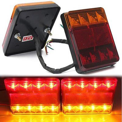 Truck Trailer LED Taillight Brake Stop Turn Signal Indicator Lights Lamp 12V US