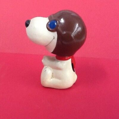 """Awesome Vintage 1966 Snoopy Red Baron Bobblehead 3 1/2""""H, Wonderful Condition"""