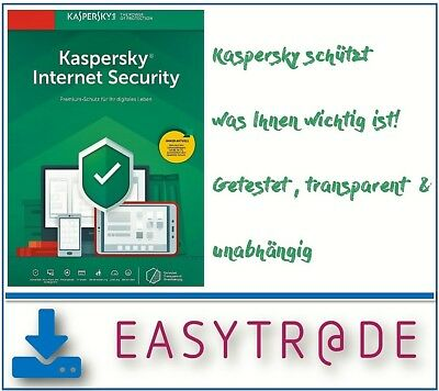 Kaspersky Internet Security 2019 1-Gerät Win/ MAC od. Android 1Jahr ESD Download