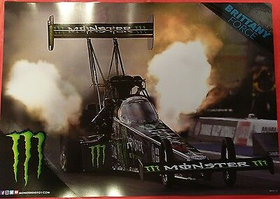 MONSTER Drag Racing Poster (22 x 15.5) NEW!! Brittany Force. ONLY 10 LEFT!!