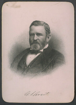 C. 1900 Presidential Cabinet Style Engraving Ulysses S. Grant