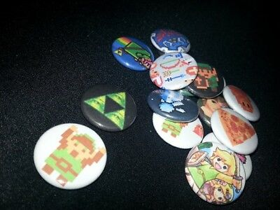 16 one-inch Legend of Zelda button pins