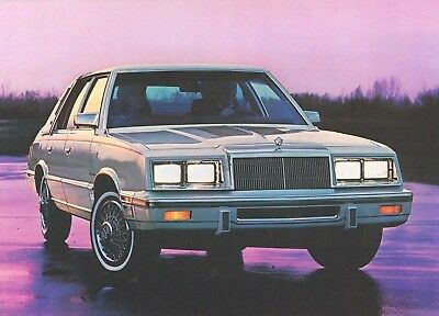 1985 Chrysler NEW YORKER Brochure / Catalog with Color Chart: TURBO.........New!