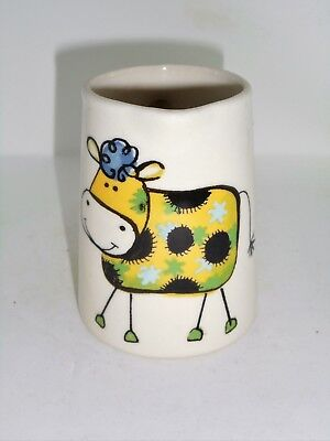 BN Cream Pottery Crazy Cow Pitcher Style Jug, Very Small Milk Jug,  Cow Milk Jug